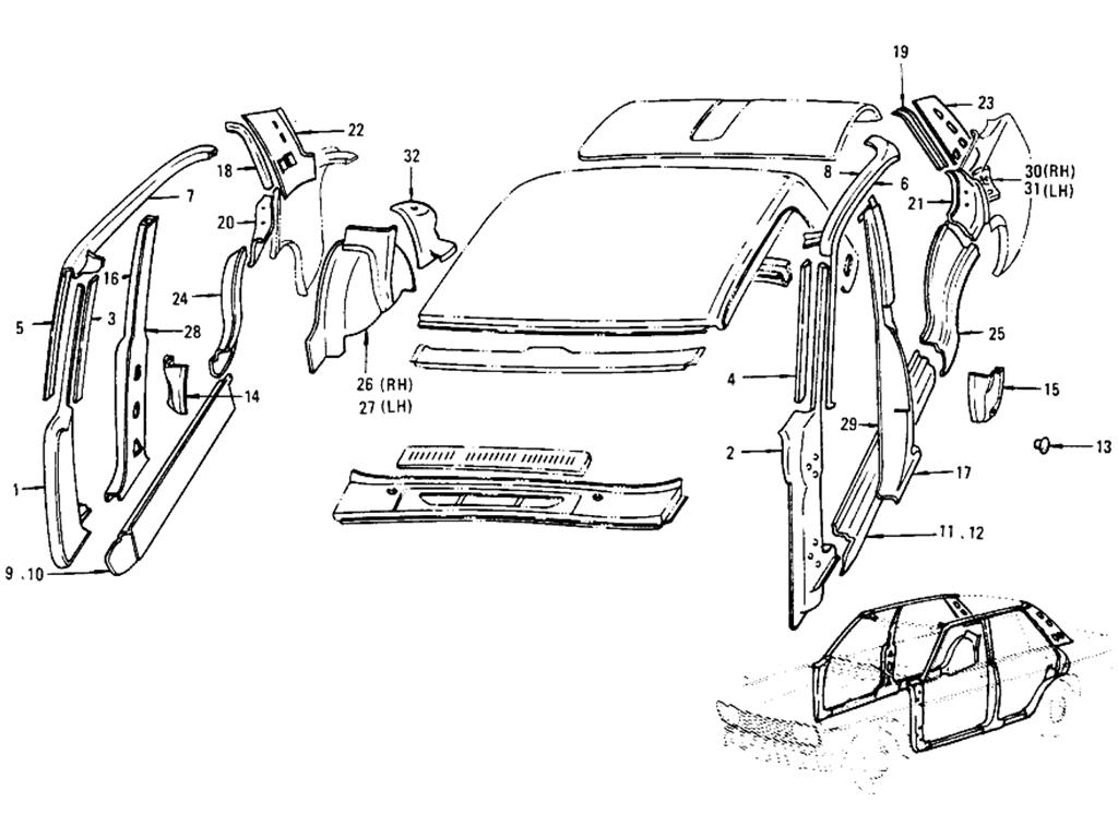 Datsun 510 Body Side Panel (Sedan 4 Door)
