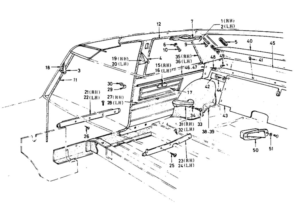 Datsun 510 Body Side Trimming (Sedan-2-Door)