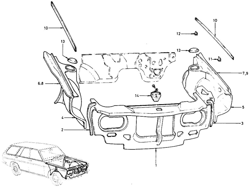 Datsun 510 Front Inside (Wagon)