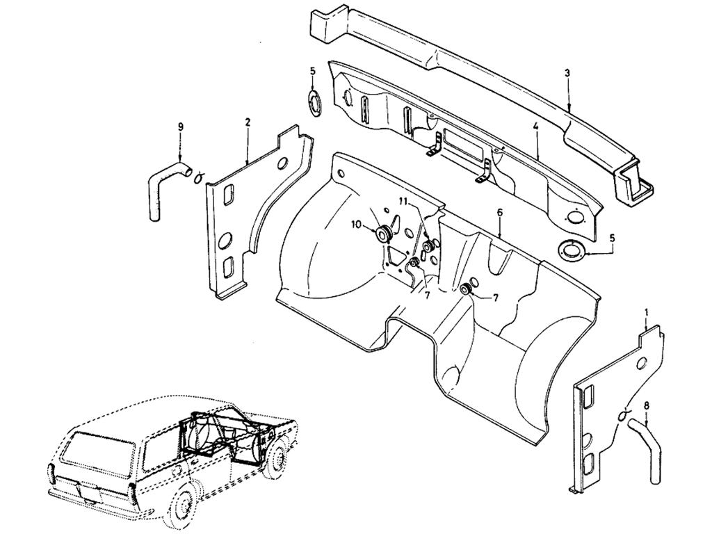 Datsun 510 Dash Panel (Wagon)