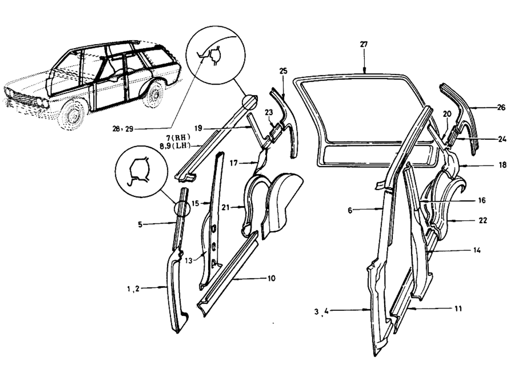 Datsun 510 Body Side Panel (Wagon)