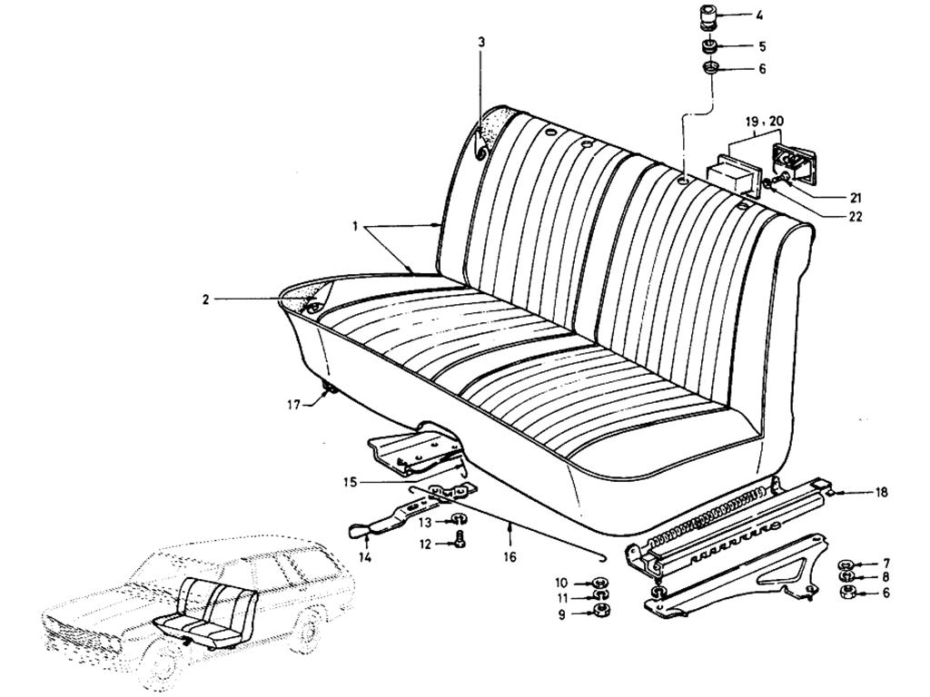 Datsun 510 Bench Type Front Seat (Wagon)