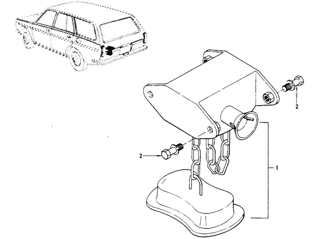 Datsun 510 Spare Tire Carrier (Wagon)