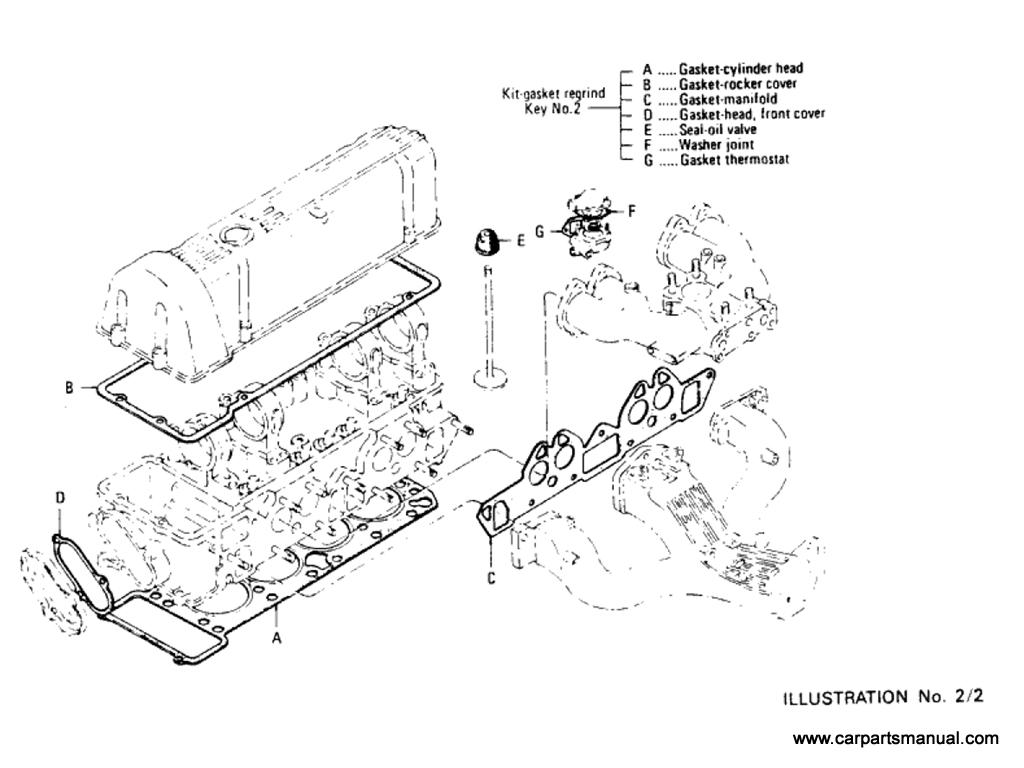 Datsun Bluebird (610) Engine Gasket Kit (L18)