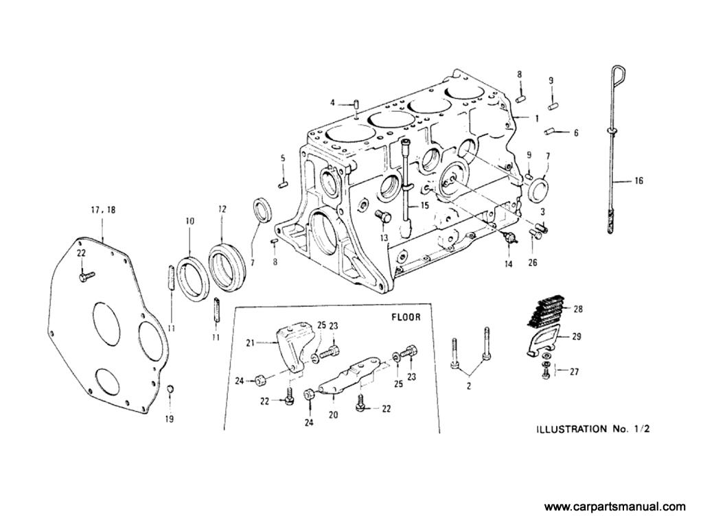 Datsun Bluebird (610) Cylinder Block (L18)