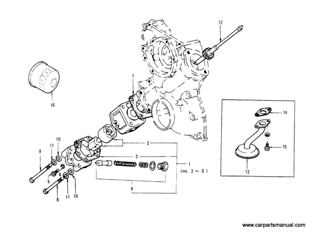 Datsun Bluebird (610) Oil Pump (L18)