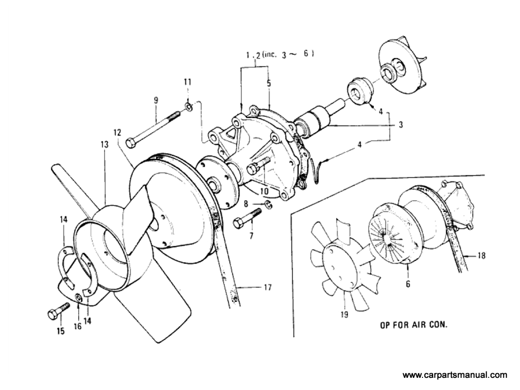 Datsun Bluebird (610) Water Pump (L18)