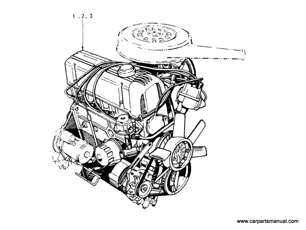 Datsun Bluebird (610) Engine (L20B)