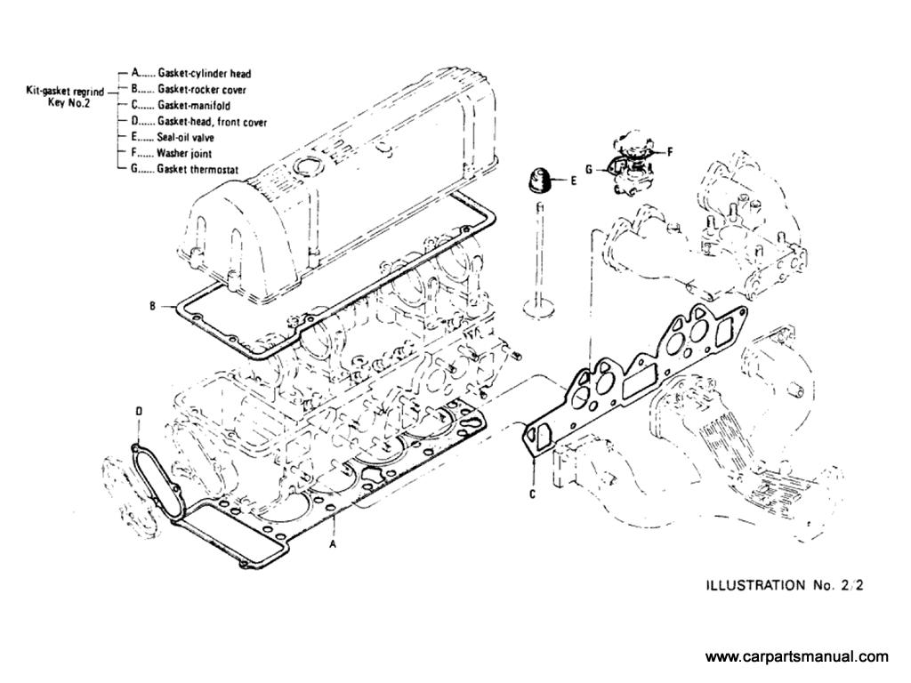 Datsun Bluebird (610) Engine Gasket Kit (L20B)