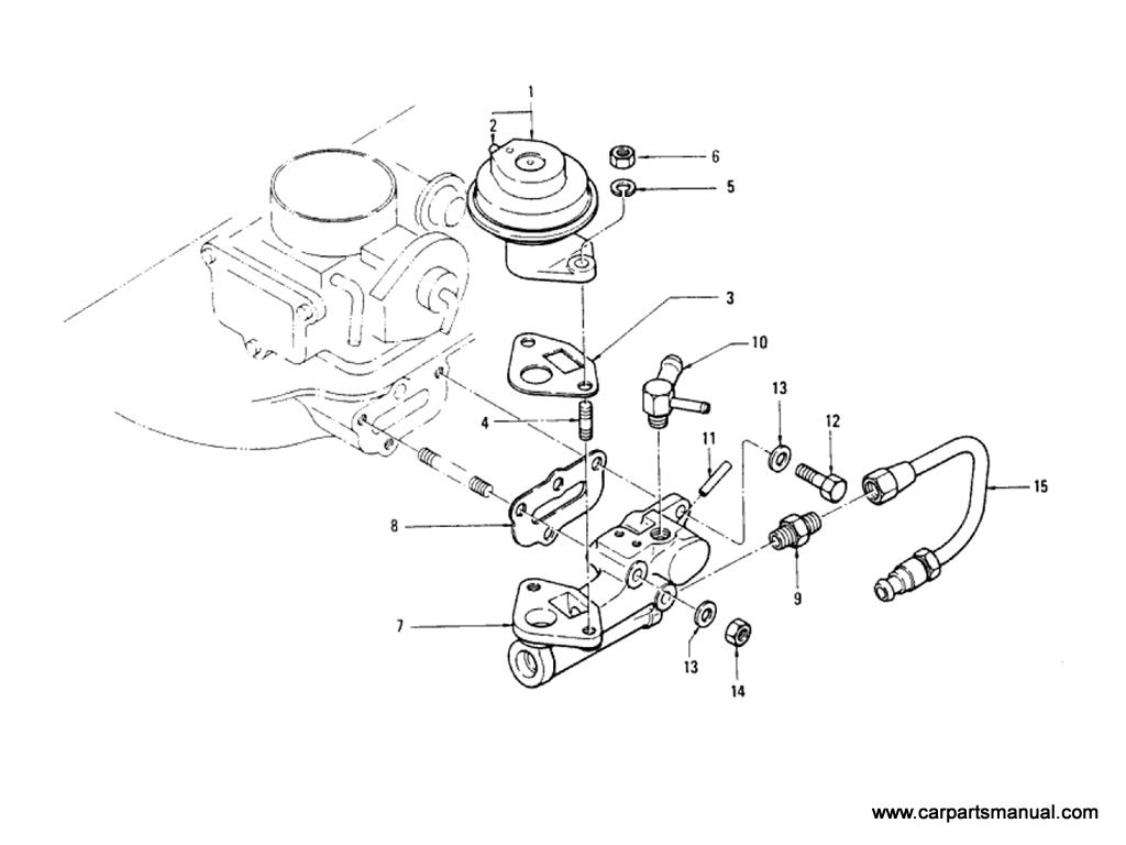 Datsun Bluebird (610) EGR Parts (L20B) (From Sep-'74)