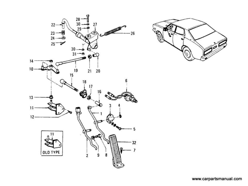 Datsun Bluebird (610) Accelerator