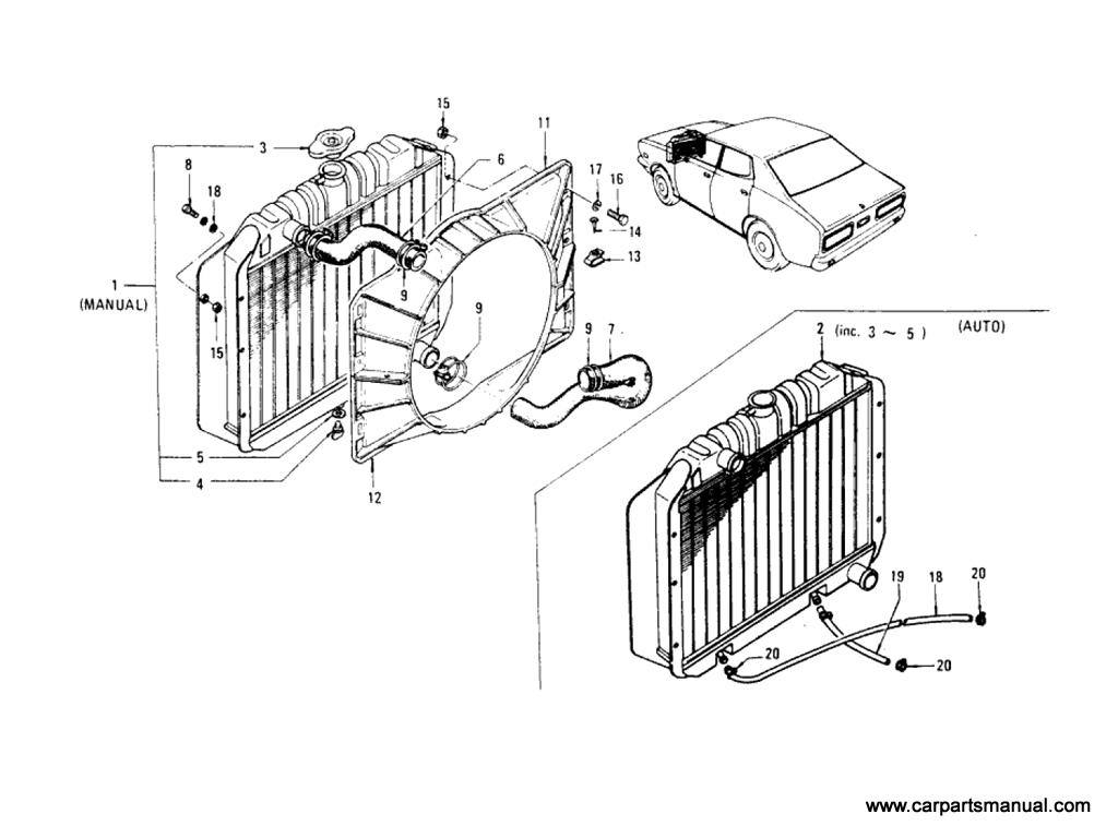 Datsun Bluebird (610) Radiator