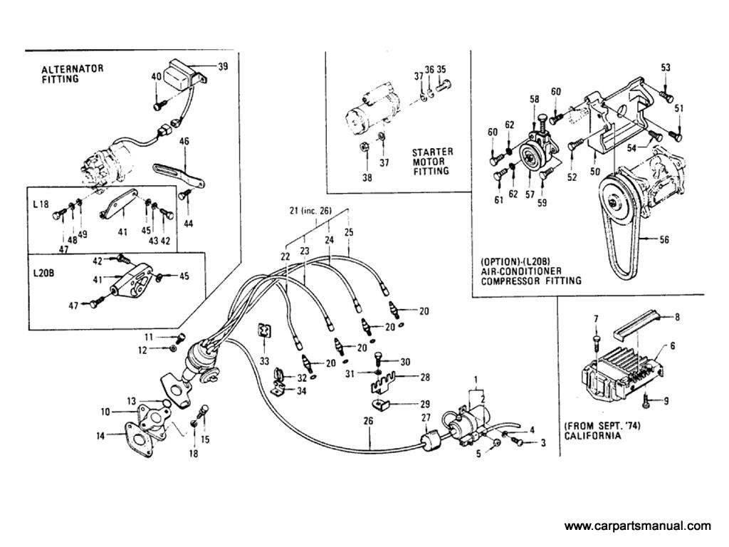 Datsun Bluebird (610) Electrical