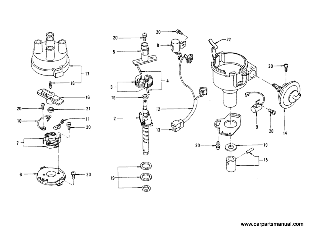 Datsun Bluebird (610) Distributor (To Jul-'73)
