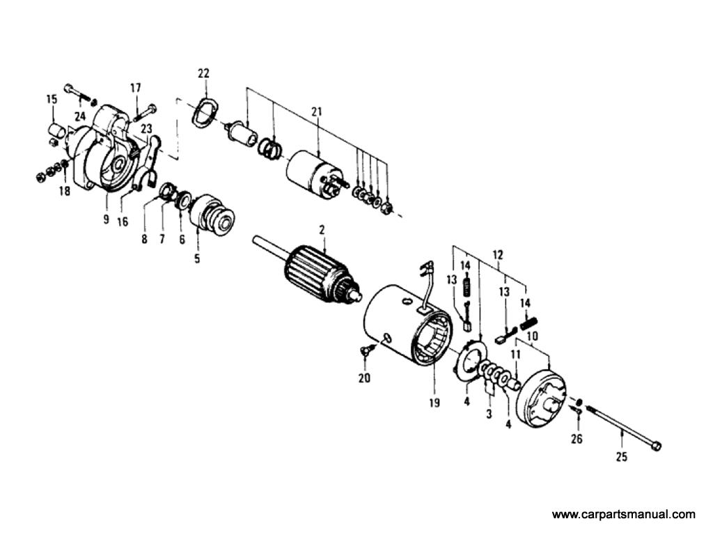 Datsun Bluebird (610) Starter Motor (L18 & L20B) (To Sep-'74)