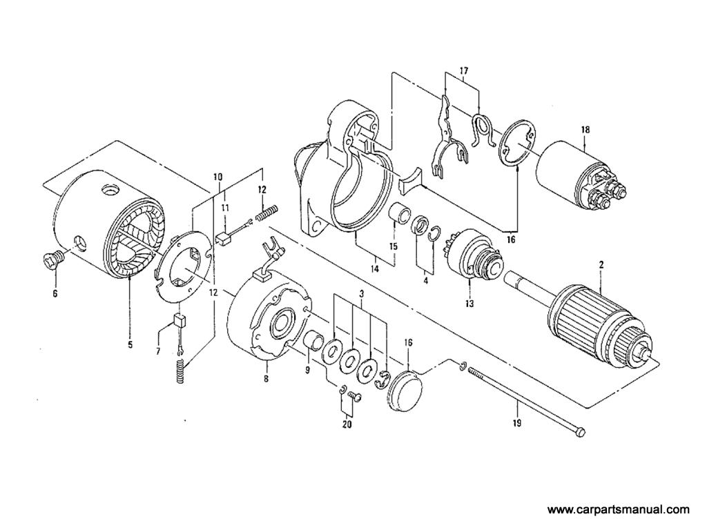 Datsun Bluebird (610) Starter Motor (L20B) (Automatic