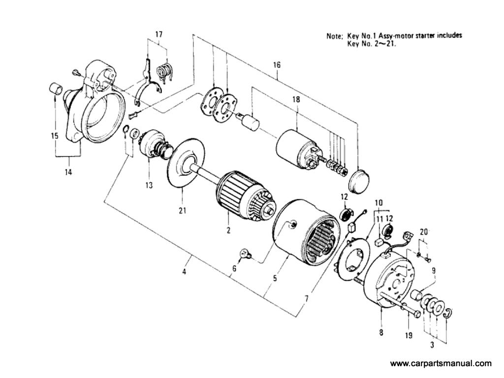 Datsun Bluebird (610) Starter Motor (L18 & L20B) (Option