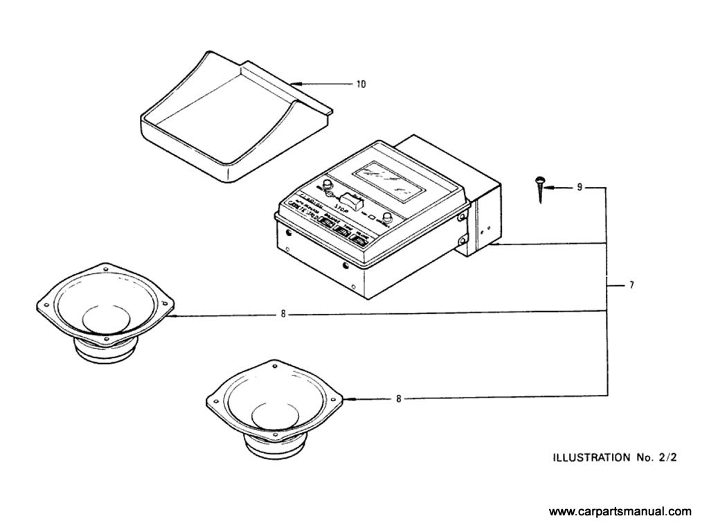 Datsun Bluebird (610) Radio & Cassette Stereo