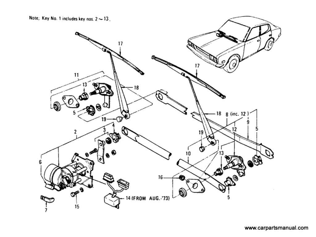 Datsun Bluebird (610) Windshield Wiper