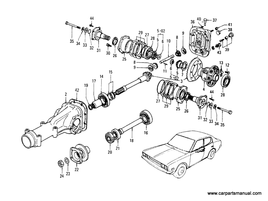 Datsun Bluebird (610) Final Drive Assembly & Parts