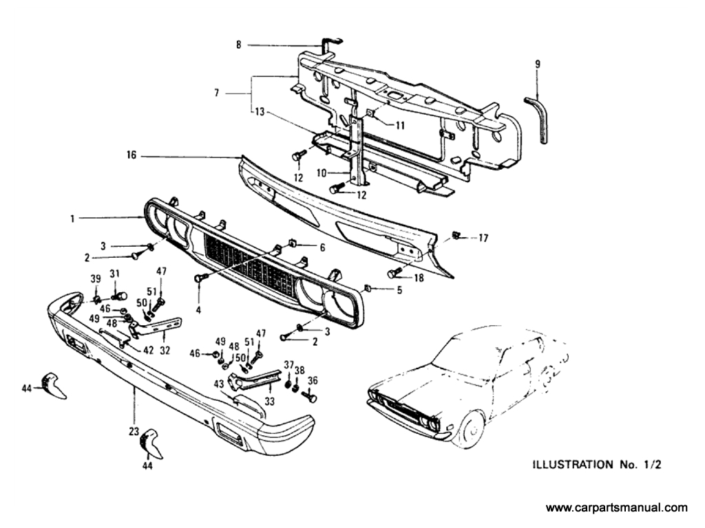 Datsun Bluebird (610) Body (Hardtop)