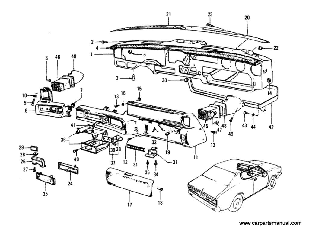 Datsun Bluebird (610) Instrument Panel Parts & Trimming