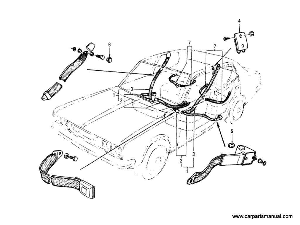 Datsun Bluebird (610) Seat Belt (Hardtop)