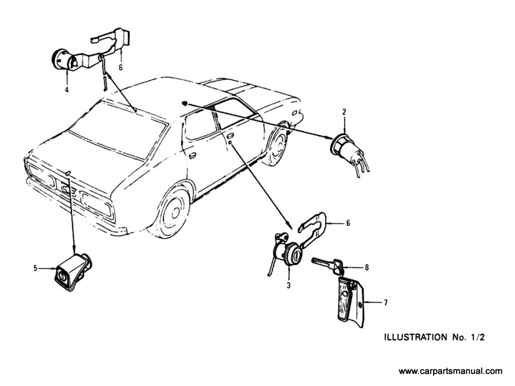 Datsun Bluebird (610) Key-Set & Blank Key