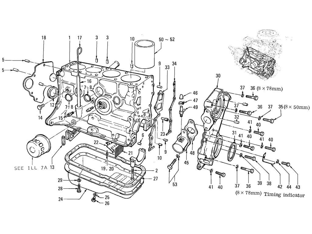 Datsun Pickup (520/521) Cylinder Block (L16)