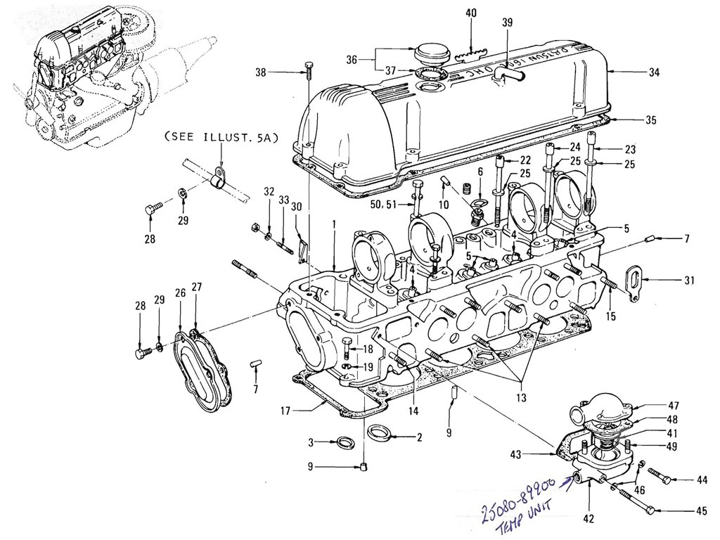 Datsun Pickup (520/521) Cylinder Head (L16)