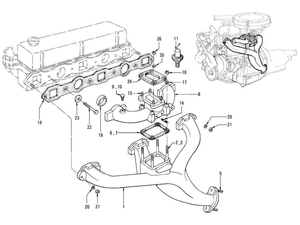 Datsun Pickup (520/521) Manifold (J13)