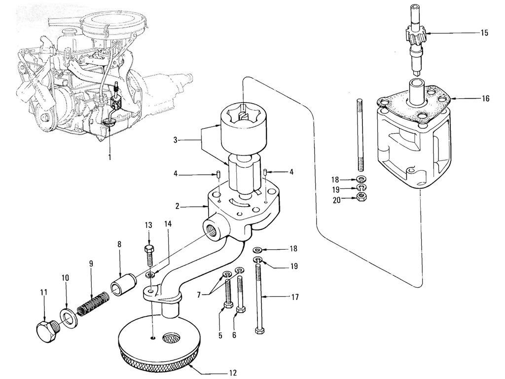 Datsun Pickup (520/521) Oil Pump (J13)