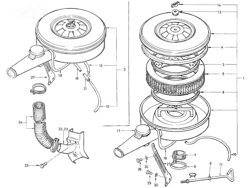 Datsun Pickup (520/521) Air Cleaner (From Jun.-'71) (L16)