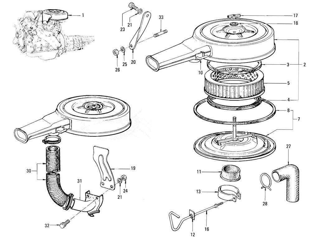 Datsun Pickup (520/521) Air Cleaner (J13)
