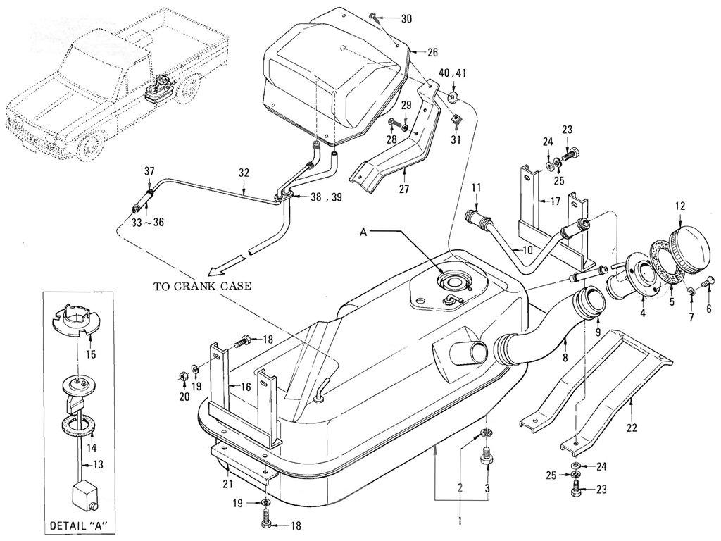Datsun Pickup (520/521) Fuel Tank (Evapo) (L16)