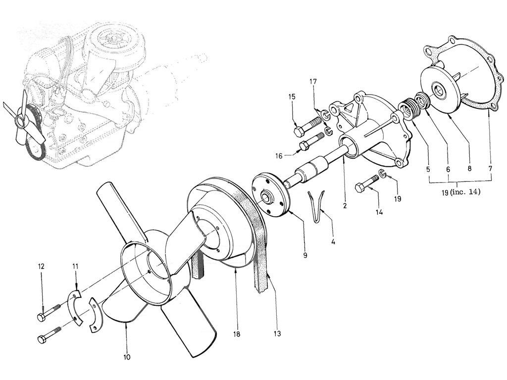 Datsun Pickup (520/521) Water Pump (L16)
