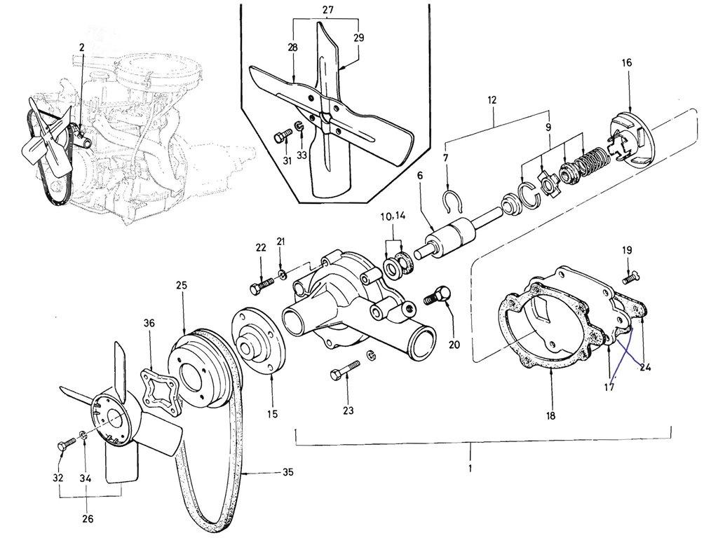 Datsun Pickup (520/521) Water Pump (J13)