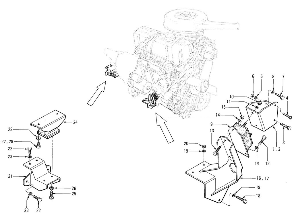 Datsun Pickup (520/521) Engine Mounting (J13)