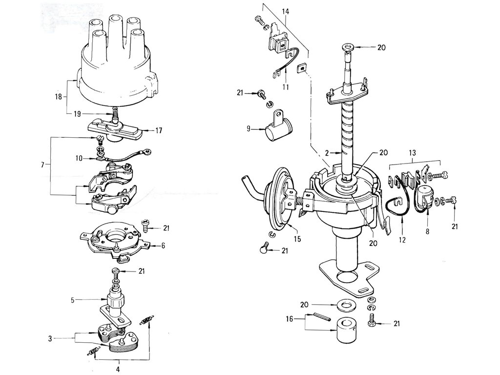 Datsun Pickup (520/521) Distributor (L16 Hitachi) (From