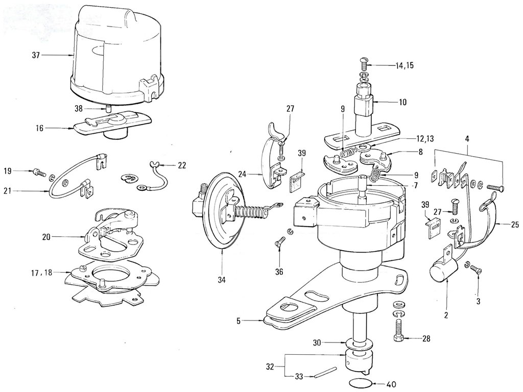 Datsun Pickup (520/521) Distributor (J13 Hitachi)