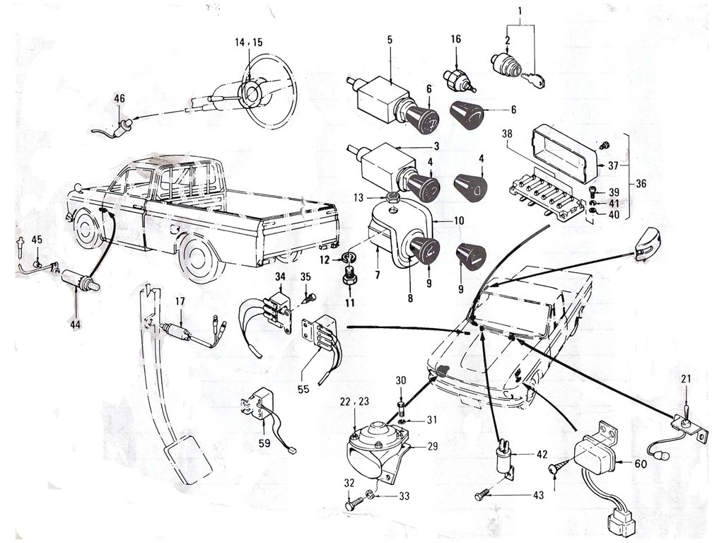 Datsun Pickup (520/521) Electrical Index