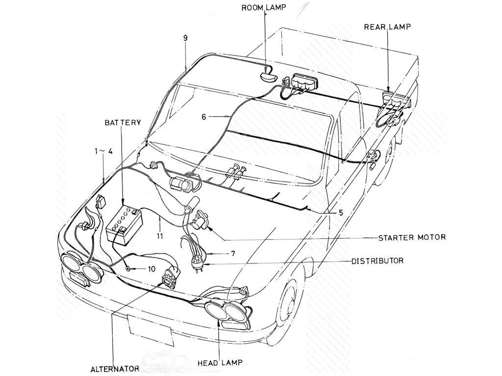 Datsun Pickup (520/521) Wiring (J13)