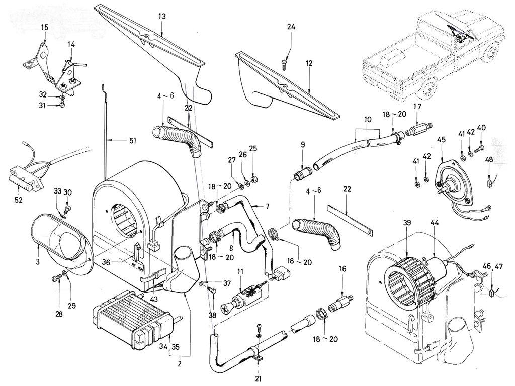 Datsun Pickup (520/521) Heater (J13)