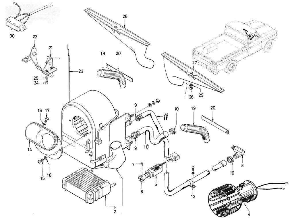 Datsun Pickup (520/521) Heater (L16)