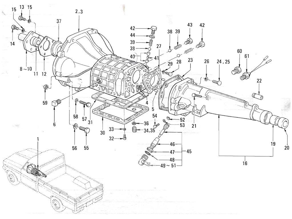 Datsun Pickup (520/521) Transmission Case (Floor Shift