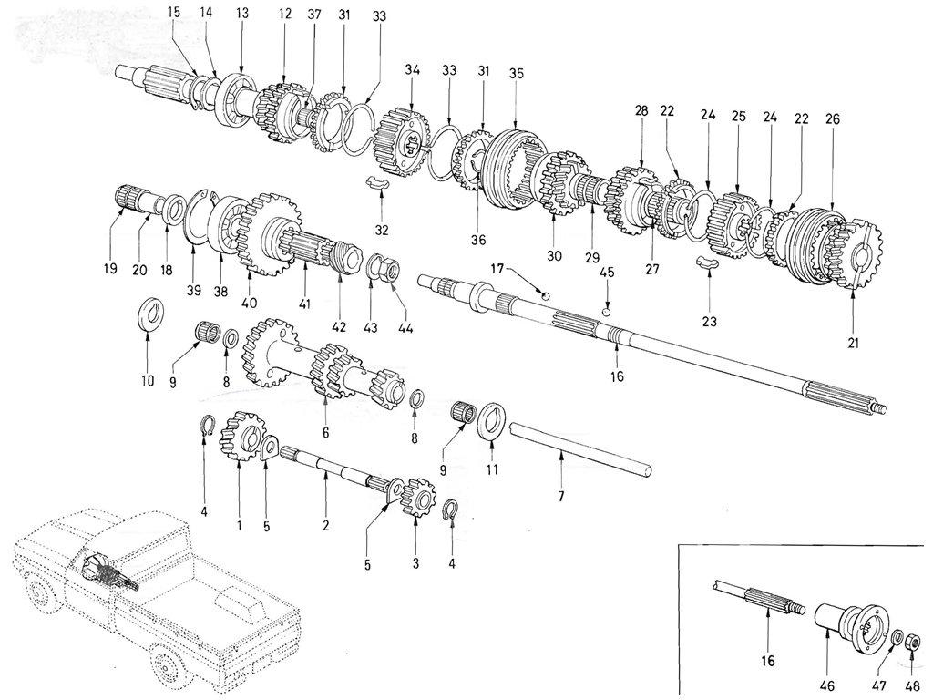 Datsun Pickup (520/521) Transmission Gear (From Oct.-'65)