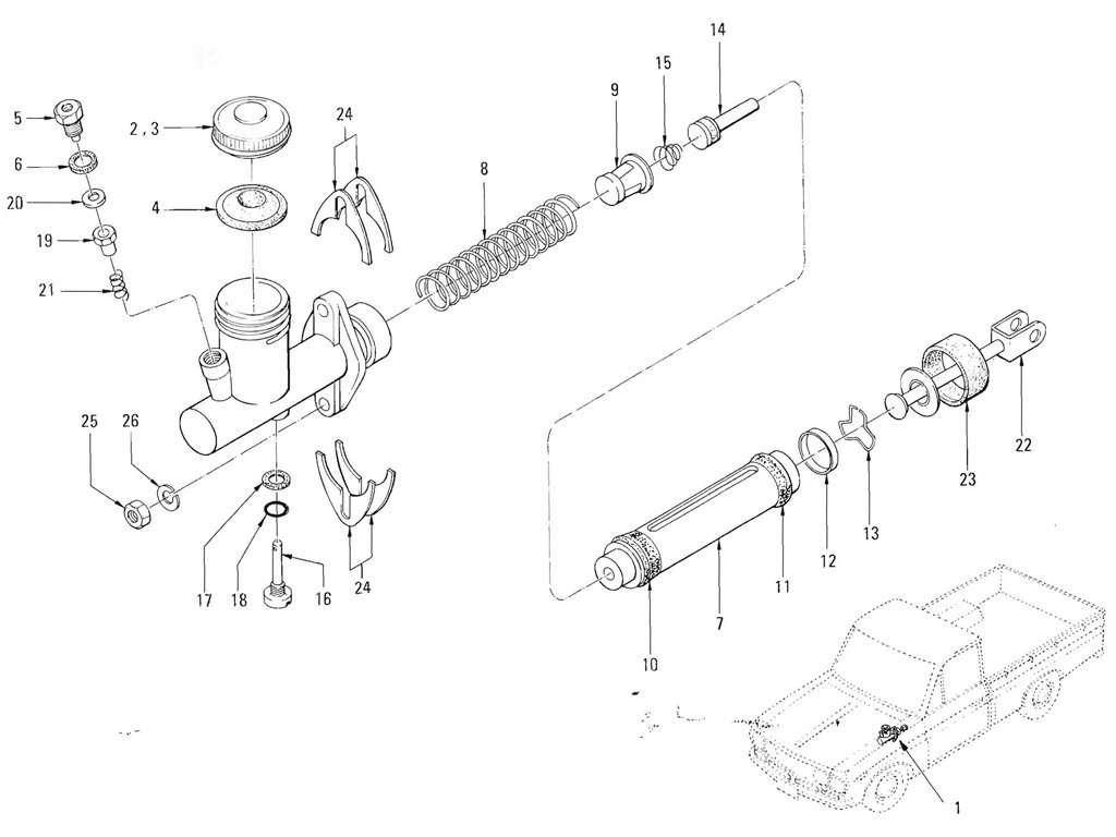 Datsun Pickup (520/521) Brake Index