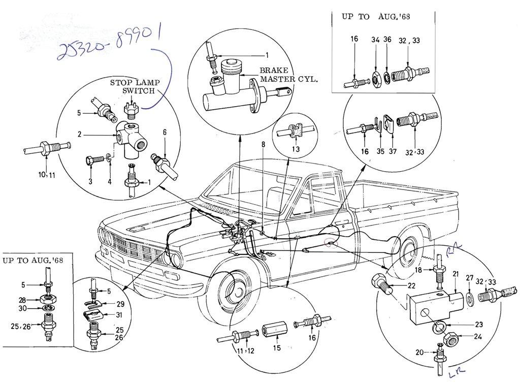 Datsun Pickup (520/521) Brake Piping