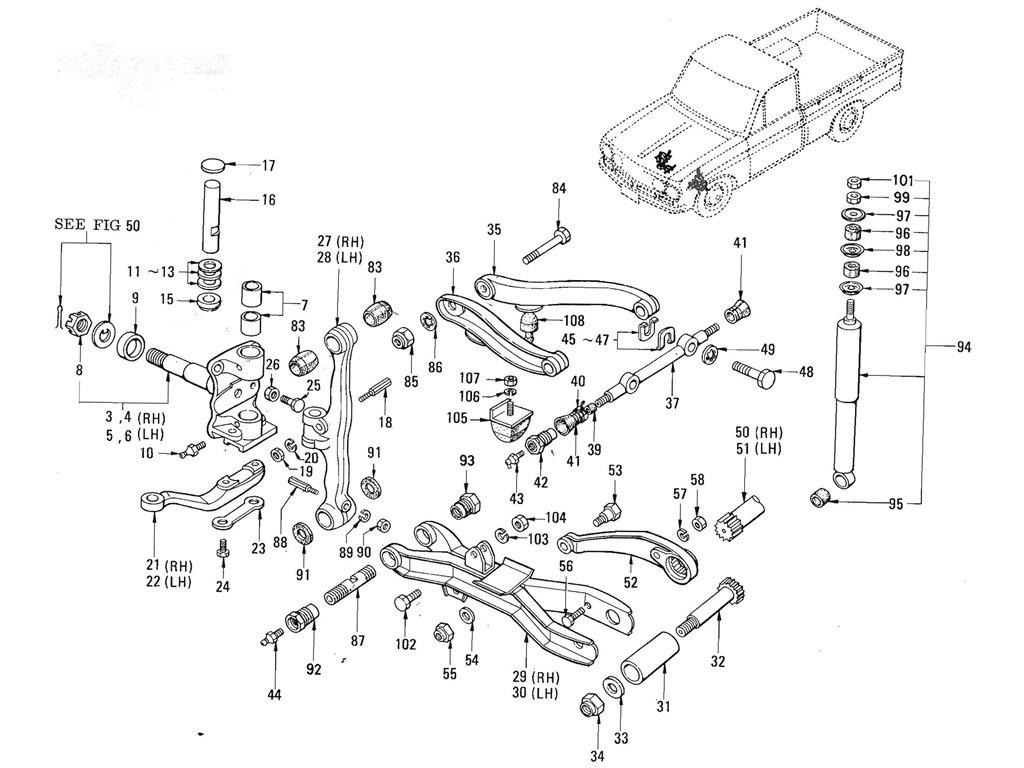 Datsun Pickup (520/521) Axle & Suspension Index