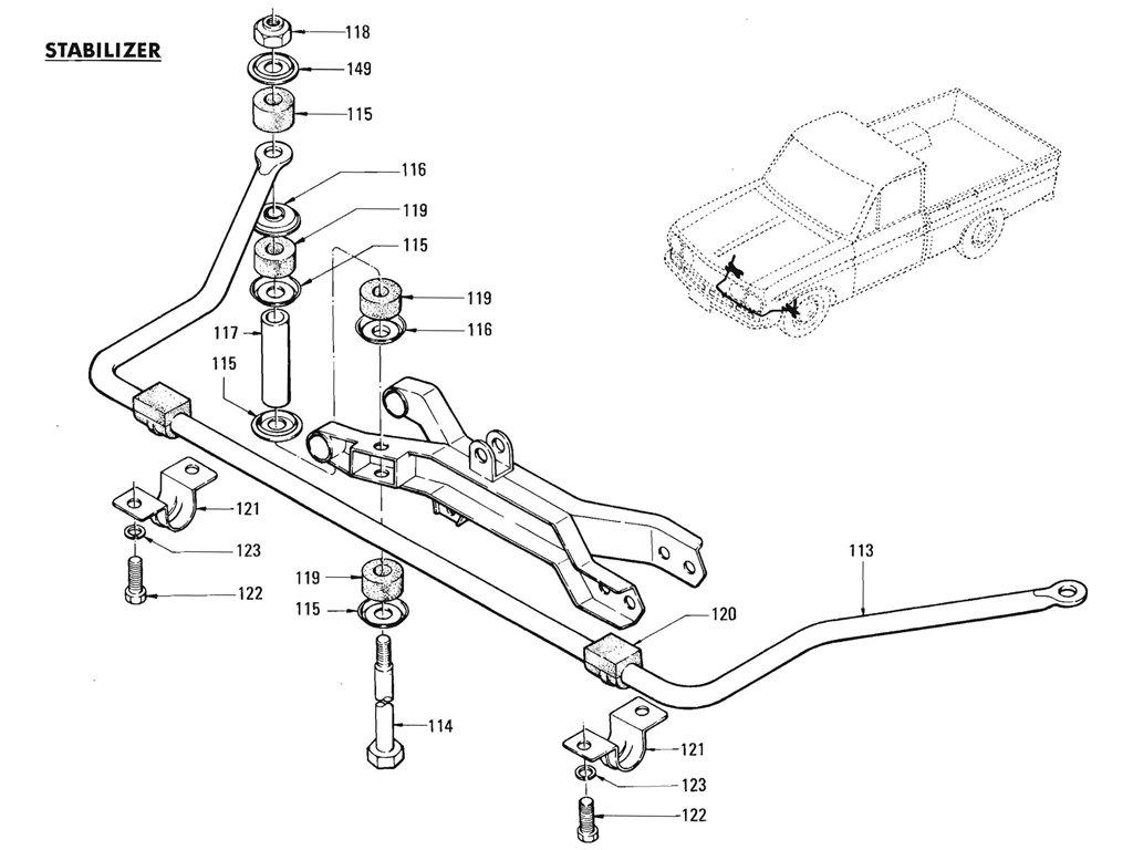 Datsun Pickup (520/521) Front Suspension